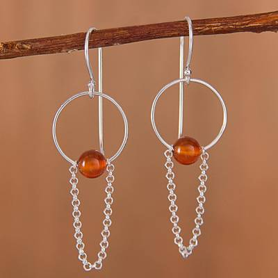 Novica Agate drop earrings, Pathway to Color