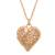 Gold-plated sterling silver filigree locket necklace, 'Splendid Fantasy' - Heart Shaped Gold Plated Filigree Locket Necklace from Peru thumbail