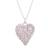 Sterling silver filigree locket necklace, 'Shining Finesse' - Sterling Silver Heart Shaped Filigree Locket Necklace (image 2a) thumbail