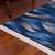 Wool area rug, 'Waves in Motion' (4x4.5) - Hand Woven Blue Rectangular Wool Area Rug (4x4.5) (image 2b) thumbail