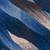 Wool area rug, 'Waves in Motion' (4x4.5) - Hand Woven Blue Rectangular Wool Area Rug (4x4.5) (image 2c) thumbail