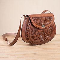 Novica Leather sling, Lattice Garden