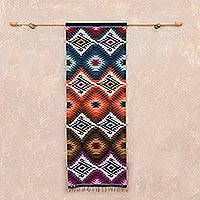 Wool tapestry, 'Natural Trance' - Handwoven Geometric Wool Tapestry from Peru
