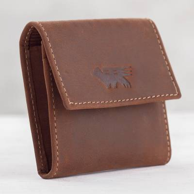 fd1fbfc98f3c1 UNICEF Market   Men s Two Compartment Dark Brown Leather Coin Wallet -  Esquire in Dark Brown
