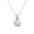 Cultured pearl pendant necklace, 'Peach Bloom' - Peach Cultured Pearl and Sterling Silver Pendant Necklace (image 2d) thumbail