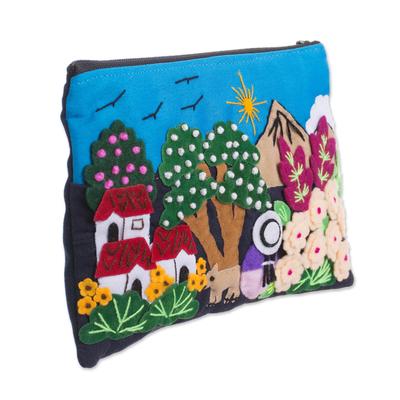 Colorful Andean Dawn Cotton Blend Appliqu?�?�?�?� Pencil Case