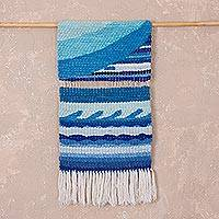 Wool tapestry, 'High Seas' - Handwoven Ocean-Themed Wool Tapestry from Peru