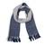 Reversible 100% baby alpaca scarf, 'Smoky Navy' - 100% Baby Alpaca Scarf in Navy and Smoke from Peru (image 2a) thumbail
