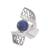 Sodalite filigree cocktail ring, 'Cosmic Twist in Blue' - Sodalite and Sterling Silver Filigree Band Cocktail Ring (image 2a) thumbail