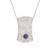 Reversible onyx and sodalite filigree pendant necklace, 'Day to Night Elegance' - Reversible Sodalite Onyx Sterling Silver Pendant Necklace thumbail