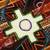 Wool tapestry, 'Chakana Dimensions' - Handwoven Wool Chakana Cross Tapestry from Peru (image 2b) thumbail
