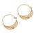 Gold plated sterling silver filigree hoop earrings, 'Gold Fiesta' - 24k Gold Plated Sterling Silver Filigree Hoop Earrings (image 2c) thumbail