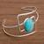 Amazonite cuff bracelet, 'Angles' - Amazonite and Sterling Silver Modern Abstract Cuff Bracelet (image 2b) thumbail