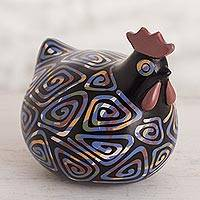 Ceramic sculpture, 'Chulucanas Hen' - Chulucanas Ceramic Hen Sculpture from Peru