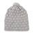 100% alpaca knit cap, 'Dove Feather' - Hand Knit Dove Grey 100% Alpaca Multi-Textured Hat (image 2a) thumbail