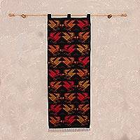 Wool tapestry, 'Andean Condor' - Handwoven Wool Tapestry with Condor Motifs from Peru