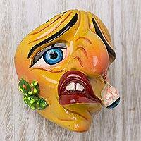 Resin mini mask, 'Wrong Remedy' - Colorful Resin Character Mini Mask From Dance Chukchu