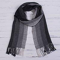 Featured review for 100% alpaca scarf, Andean Ombre in Grey