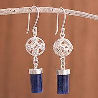 Sodalite dangle earrings, 'Sweet Whisper' - Sodalite Dangle Earrings Crafted in Peru
