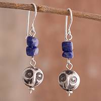 Sodalite dangle earrings, 'Wise Blue' - Sodalite Dangle Earrings Crafted in Peru