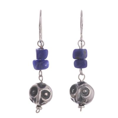 Sodalite dangle earrings, 'Wise Blue' - Sodalite Dangle Earrings Crafted in Peru