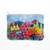 Cotton blend clutch, 'Floral Landscape' - Floral Cotton Blend Arpillera Clutch from Peru (image 2a) thumbail