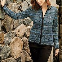 Featured review for Alpaca blend cardigan, Aymara