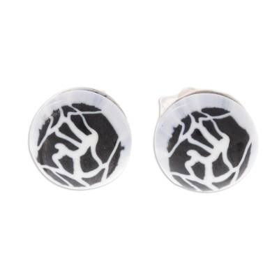 Abstract Murano Art Glass Stud Earrings from Peru