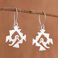 Sterling silver dangle earrings, 'Mystic Hummingbird' - Sterling Silver Hummingbird Dangle Earrings from Peru