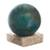 Chrysocolla and jasper gemstone sculpture, 'Blue-Green World' - Modern Chrysocolla and Jasper Gemstone Figurine from Peru (image 2a) thumbail