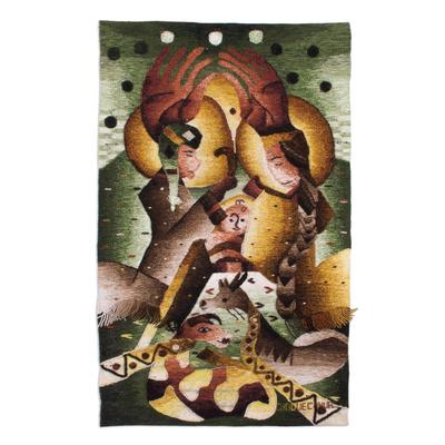 Handwoven 100% Alpaca Nativity Scene Tapestry from Peru