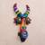 Ceramic mask, 'Colorful Devil' - Colorful Ceramic Devil Mask Handcrafted in Peru (image 2b) thumbail