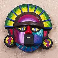 Ceramic mask, 'Cultural Tumi' - Handcrafted Ceramic Tumi Mask from Peru