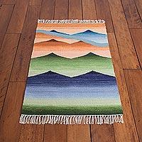 Wool area rug, 'Andean Vista' (2x3)