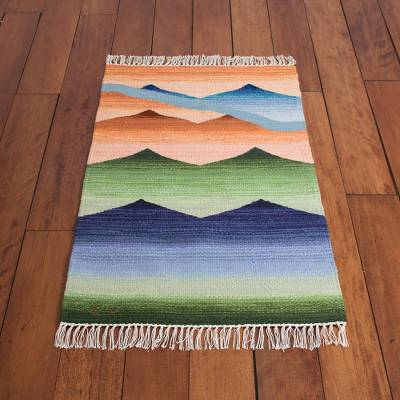 Wool area rug, 'Andean Vista' (2x3) - Handwoven Wool Area Rug from Peru (2x3)