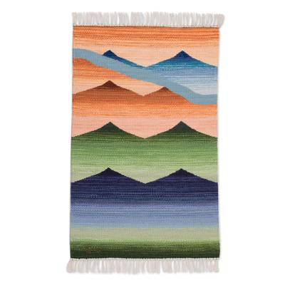Handwoven Wool Area Rug from Peru (2x3)