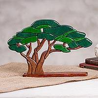 Wood sculpture, 'Olive Tree' - Wood Olive Tree Sculpture Crafted in Peru