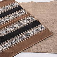 Alpaca blend table runner, 'Inca World' - Handwoven Alpaca Blend Table Runner from Peru
