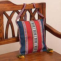 Wool sling, 'Inca Travels' - Inca-Inspired Wool Sling Handbag from Peru