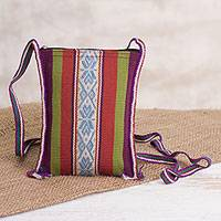 Wool passport bag, 'Call of the Inca' - Inca-Inspired Wool Passport Bag from Peru
