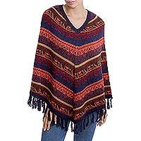 Featured review for Alpaca blend poncho, Inca Gala