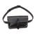 Leather waist bag, 'Experience in Black' - Handmade Leather Waist Bag in Black from Peru (image 2a) thumbail