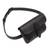 Leather waist bag, 'Experience in Black' - Handmade Leather Waist Bag in Black from Peru (image 2d) thumbail