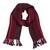 100% alpaca scarf, 'Andean Zigzag in Crimson' - Handwoven 100% Alpaca Wrap Scarf in Crimson from Peru (image 2a) thumbail