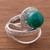 Chrysocolla cocktail ring, 'Verdant Infinity' - Natural Chrysocolla Cocktail Ring from Peru (image 2b) thumbail