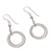 Sterling silver dangle earrings, 'Outer Rings' - Ring-Shaped Sterling Silver Dangle Earrings from Peru (image 2c) thumbail