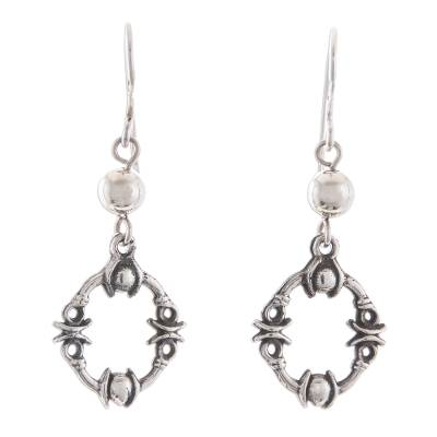 86a932044 Sterling silver dangle earrings, 'Elegant Warrior' - Tribal Sterling Silver  Dangle Earrings from