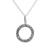 Sterling silver pendant necklace, 'Cosmic Circle' - Circular Sterling Silver Pendant Necklace Crafted in Peru (image 2a) thumbail