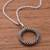 Sterling silver pendant necklace, 'Cosmic Circle' - Circular Sterling Silver Pendant Necklace Crafted in Peru (image 2b) thumbail