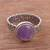 Amethyst cocktail ring, 'Amethyst Power' - Natural Amethyst Cocktail Ring from Peru thumbail